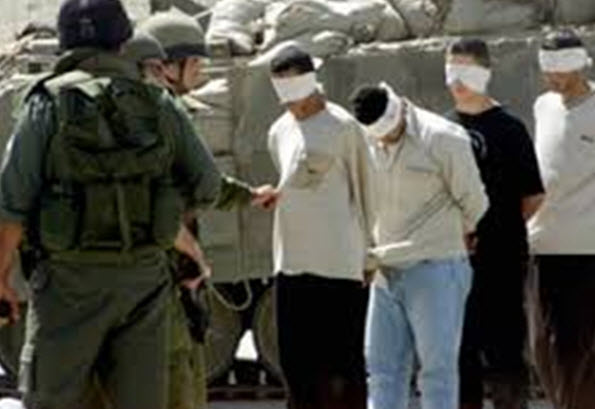 Israeli) forces arrest 16 Palestinians in West Bank)