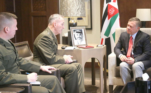 King receives US Army Chief of Staff