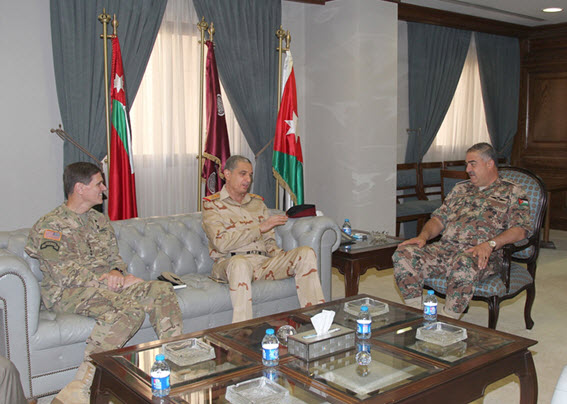 Army chief meets U.S. and Iraqi military officials