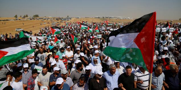شهيدان وإصابات في جمعة  لا مساومة على كسر الحصار  شرق غزة