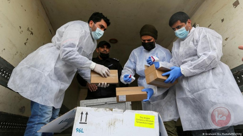 إرسال 100 ألف جرعة من لقاحات كورونا إلى غزة